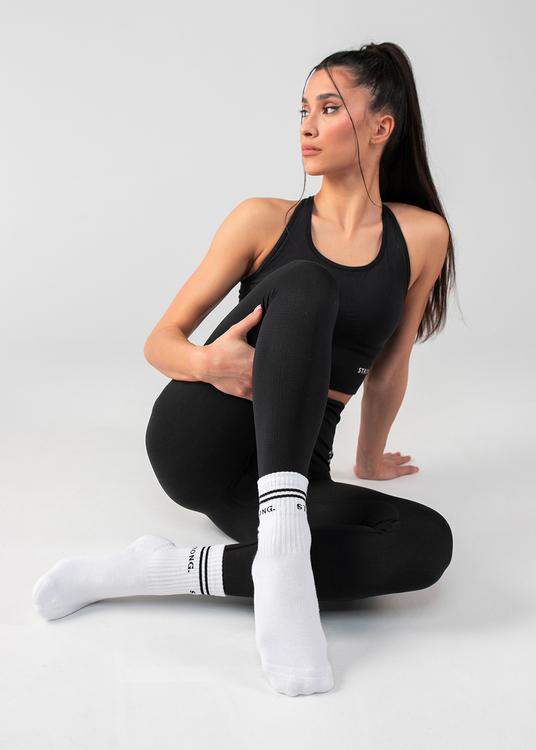 90's Socks. White