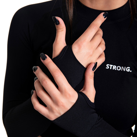 STRONG. - BEZSZWOWY LONGSLEEVE (BLACK)