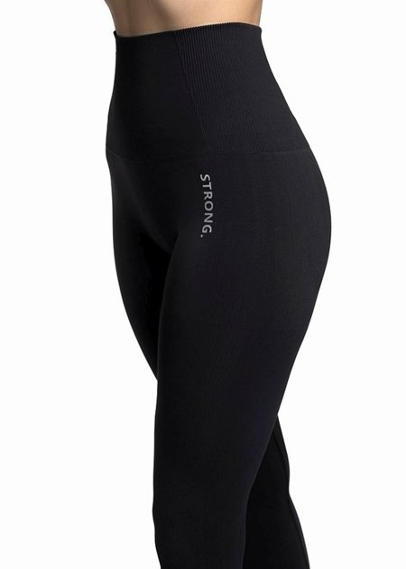 STRONG. - MODELUJĄCE LEGGINSY BEZSZWOWE BLACK (PUSH UP)