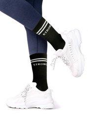 STRONG. 90's Socks Black